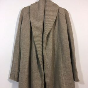 Vince Ribbed Shawl Sweater Yak / Wool Cardigan
